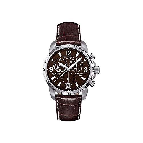 Certina Herren-Armbanduhr XL Chronograph Quarz Leder C001.639.16.297.00