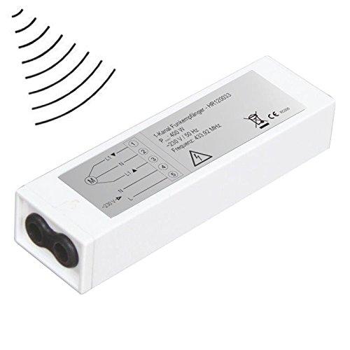 PROHEIM Externer Funkempfänger HR120033A Rolladenmotoren 433,92 Mhz 230V für Rolladen- und Markisen Funk-Steuerung