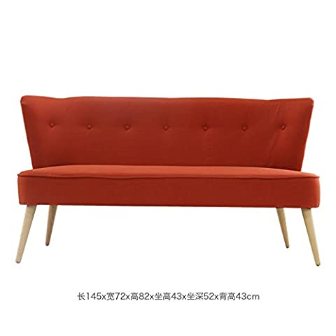 LZL Sofa solid wood fabric sofa three person apartment simple sofa double room small apartment living room,Many