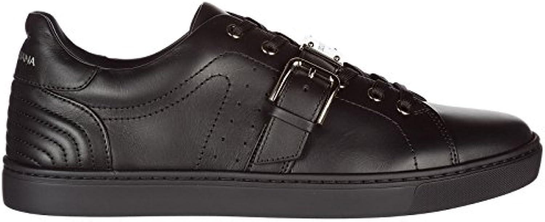 Dolce  Gabbana Herrenschuhe Herren Leder Schuhe Sneakers Schwarz