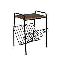 Melody Maison Vintage Retro Magazine Rack Table