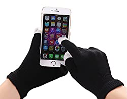 "Aventus Asus Memo Pad Hd 7 7"" (Black) Unisex Smart Touch Screen Gloves With Conductive Fingertips"