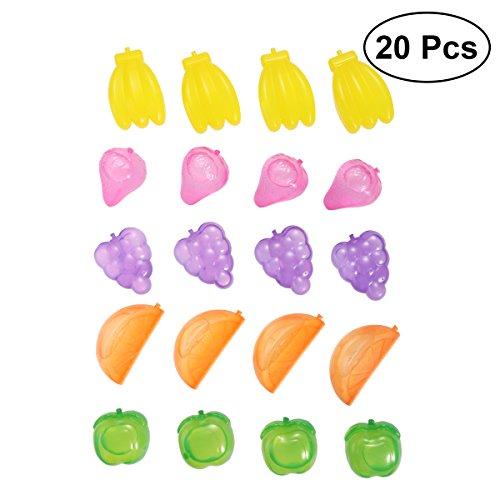 BESTONZON 20 Stück Eiswürfel Dauereiswürfel wiederverwendbare Eiswürfel im Obst Design (Zufällige Farbe)