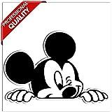 SkinoEu 1 x Autocollant Sticker Cartoon Mickey Mouse Voiture Camion Fenêtre Porte Auto Moto Vélo Tuning B 87