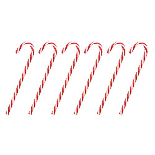 OUNONA 18er Pack Zuckerstangen Candy Canes Ornament rot-weiß Weihnachtsbaum hängende Dekor 15cm