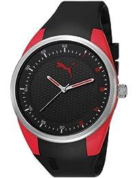 Puma Motorsport Fusion Unisex Quartz Watch with Black Dial Analogue Display and Black Plastic or PU Strap PU911001001