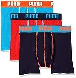 Puma Jungen Badehose Promo Lot DE 3 Boxer JUNIOR, 3er Pack, Bleu (Blue 056), 7-8 Jahre