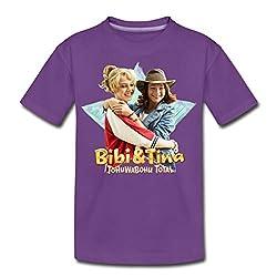 Bibi Und TinaTohuwabohu Total Freundinnen Teenager Premium T-Shirt, 146/152 (10 Jahre), Lila