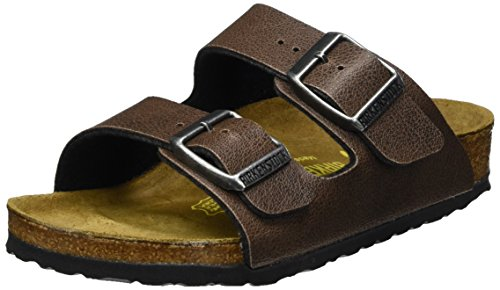 Birkenstock Kids Unisex-Kinder Arizona Pantoletten, Braun (Pull Up Brown), 27 EU