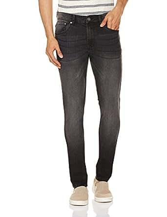 Cherokee by Unlimited Men's Skinny Fit Jeans (8907542182107_269673540_BLACK-MS_34_IN-32)