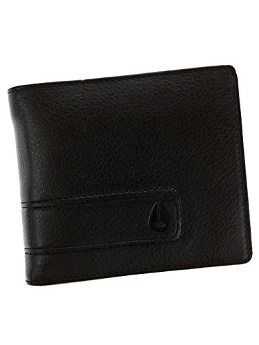 Nixon Showtime Bi-Fold ID Zip Wallet Münzbörse, Schwarz/Lime -