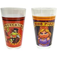 Disney Glass Muppets Tumbler, 16-Ounce, Set of 2 by RSquared