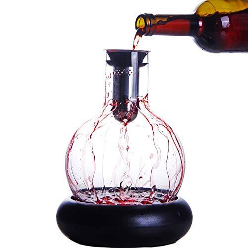 Carafe à décanter,decanteur a vin,Carafe a Decanter vin,Minimaliste Nordique avec décanteur de Cascade, adapté aux Outils de Bar, Accessoires de Cuisine -1500ML
