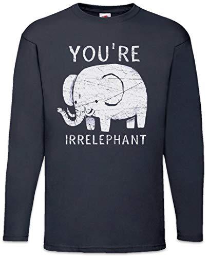 You'Re Irrelephant T-Shirt De Manga Larga Long Sleeve Shirt Tamaños S -...