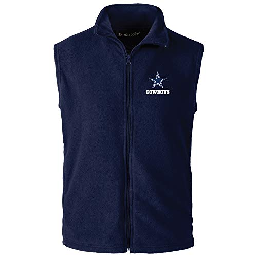Dunbrooke Apparel NFL Dallas Cowboys Houston Herren Fleece-Weste, Marineblau, XXXL