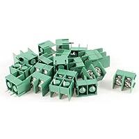 Sourcingmap a13102400ux0205 - 20 pezzi 300v 20a 2 poli passo 7,62 millimetri morsettiera a innesto verde