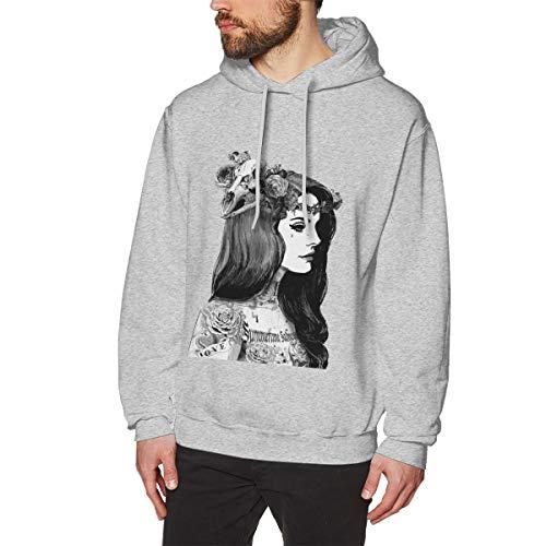 James Home Herren Lana-Del Rey Pullover Hoodie Langarm Sweatshirt Hoodies für Herren Jungen Kleidung Outdoor Mantel Tops Grau 3XL -