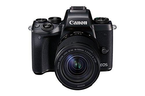 Canon EOS M5 Digital Mirrorless Camera with EF-M 18-150 mm Lens - Schwarz