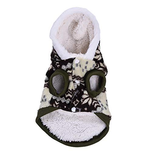 Prom-near Hundekleidung Schneeflocke Muster Kostüm Korallen Fleece Mantel, Einem Dicken Und Weichen, Dick Und Warm, Das EIN Angenehmes Erlebnis Für Haustiere - Dickens Kostüm Muster