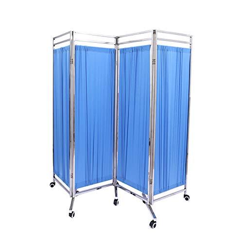 SUN RDPP 4 Shutter Folding Medical Sichtschutzvorhang, Bequemer Transport, Blau