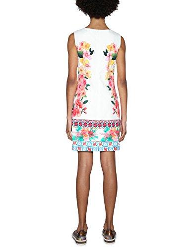 Desigual Damen Kleid Vest_Cher, Wei (White 1000), 36