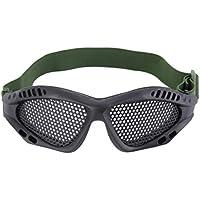 Formulaone Gafas Gafas de protección Ocular al Aire Libre Juegos de CS de Malla metálica Juegos de Seguridad de Airsoft con Banda elástica Ajustable