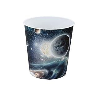 Idena 10487 - Papierkorb, Weltraummotiv, 9 Liter