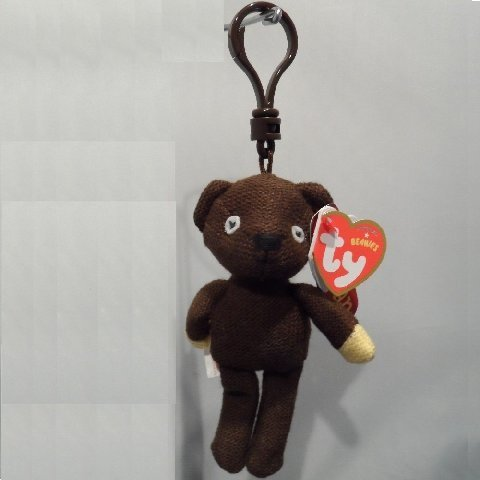 "Preisvergleich Produktbild TY Beanie Babies Mr Bean 4"" Key Clip - Mr Bean Teddy"