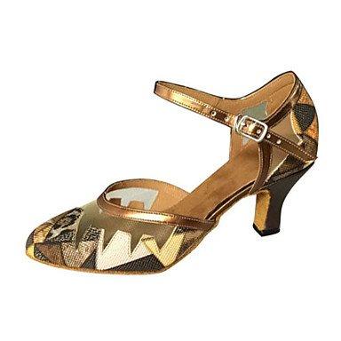 Silence @ Chaussures de danse pour femme en similicuir en similicuir moderne/Salsa Sandales Talon aiguille Heelindoor/Performance/Practise/ peau