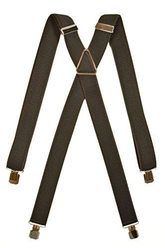 Olata bretelle elasticizzata per bambini 5-12 anni, x' clip design/metallo - nero