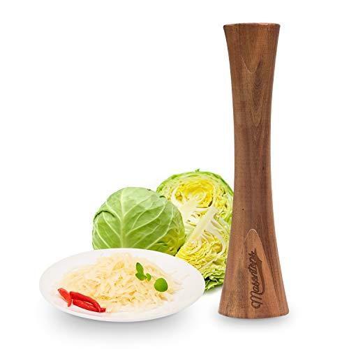 Pickle Packer - Holzstampfer für Sauerkraut- und Gemüsegärung aus natürlichem Akazienholz