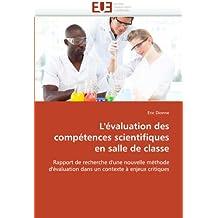 L''évaluation des compétences scientifiques en salle de classe