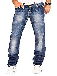 Cipo & Baxx Herren Jeans Hose Denim Jeanshose (Blau 1, W36/L32)
