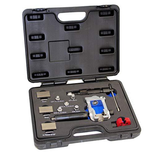 ROTOOLS Bremsleitung Bördelgerät 4,75mm DIN SAE Bördel Werkzeug mit Hydraulikspindel