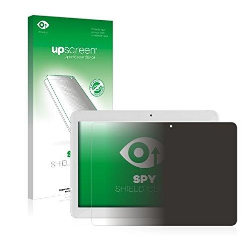 upscreen Spy Shield Clear Blickschutzfolie / Privacy für i.onik TM3 Series 1 10.1 (Sichtschutz ab 30°, Kratzschutz, selbstklebend)