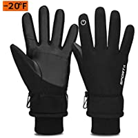 TOLEMI Winter Gloves for Men Women, -20℉ Coldproof Ski Gloves 3M Thermal Insulated Gloves Touchscreen Gloves Snowboarding Gloves for Cycling Running Climbing Hiking Outdoor Sports