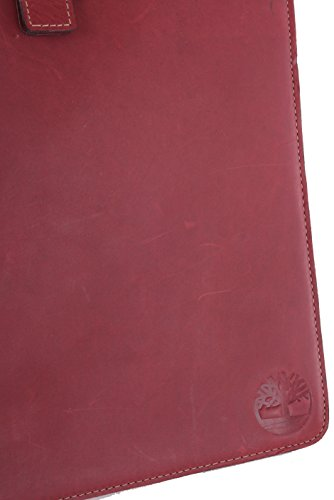 Timberland In pelle unisex Tablet Sleeve Duxbury Rosso