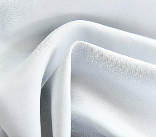 WOLTU® #488-2 2 x Gardine Vorhang blickdicht mit Ösen , 2er Set Verdunkelungsvorhang Verdunkelungsgardine , leicht schwere Vorhang Ösenschal , 135×225 cm , Weiß - 6