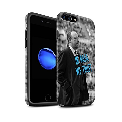 Offiziell Newcastle United FC Hülle / Matte Harten Stoßfest Case für Apple iPhone 7 Plus / Skizze Muster / NUFC Rafa Benítez Kollektion Wir Vertrauen