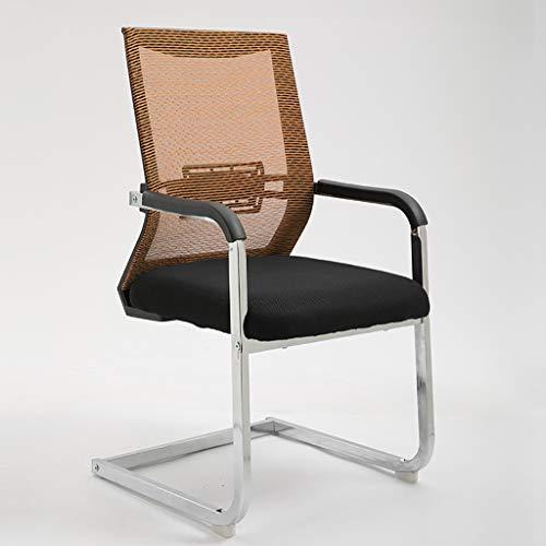 Chaises Surface d'assise rembourrée à la mode. Salle de réunion arrière respirante. Chaise de réception. Chaise d'ordinateur de bureau. (Couleur : D)