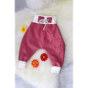 Baby Pumphose Schlupfhose Sweathose Babyhose newborn Gr. 74-92 Sterne