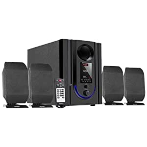 Intex IT-301 FMUB 4.1 Wooden Subwoofer Multimedia Speaker with Bluetooth/USB/FM/AUX(Black)