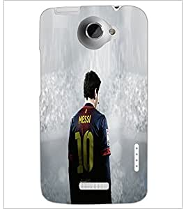PrintDhaba Sports D-5542 Back Case Cover for HTC ONE X (Multi-Coloured)
