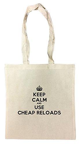 keep-calm-and-use-cheap-reloads-borsa-della-spesa-riutilizzabile-cotton-shopping-bag-reusable