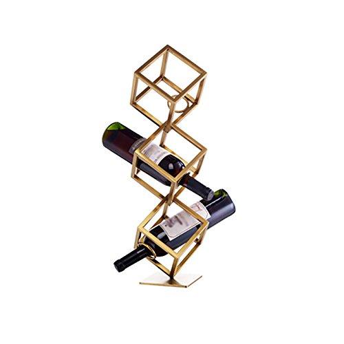 Weinregal - Europäische kreative Multifunktions-Weinregal Villa hochwertige dekorative Weinregal (eine Schicht 15cmX15cmX15cm / zwei Schichten 15cmX15cmX45cm / drei Schichten 15cmX15cmX65cm) Weinlager