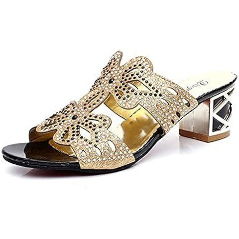 Mine tom Mujeres Forme Zapatos Imitación Diamante Verano Sandalias Flor De Mariposa Dedo Pío Los