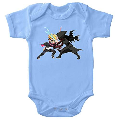 Body bébé Bleu Boruto - Star Wars parodique Boruto Vs Kylo Ren : Ninja High Tech Vs Samurai de l'espace (Parodie Boruto - Star Wars)