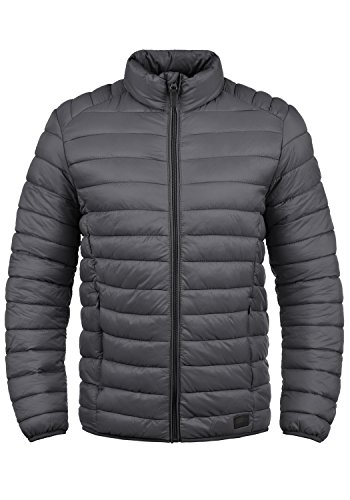 Blend Nils Herren Steppjacke Übergangsjacke Jacke mit Stehkragen, Größe:XXL, Farbe:Ebony Grey (75111)
