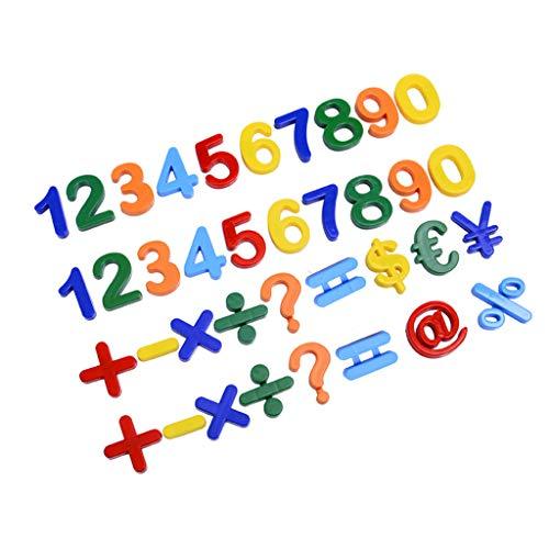 Set di adesivi magnetici per bambini con lettere dell'alfabeto e numeri magnetici, set da 37 pezzi