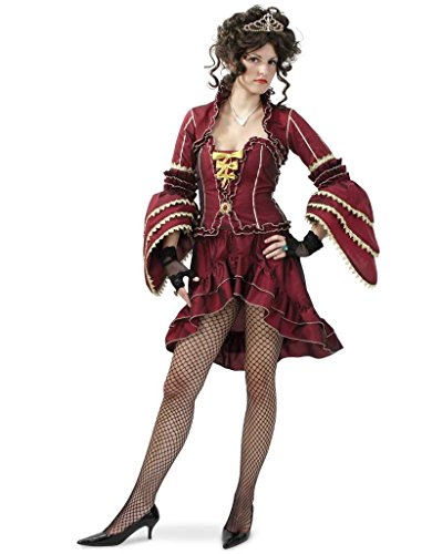 Damenkostüm Sexy Marquise dreiteiliges Outfit LARP Frankreich Mittelalter Adel Karneval Fasching Gr 36 - 42 (36) (Frankreich Kostüm Geschichte)